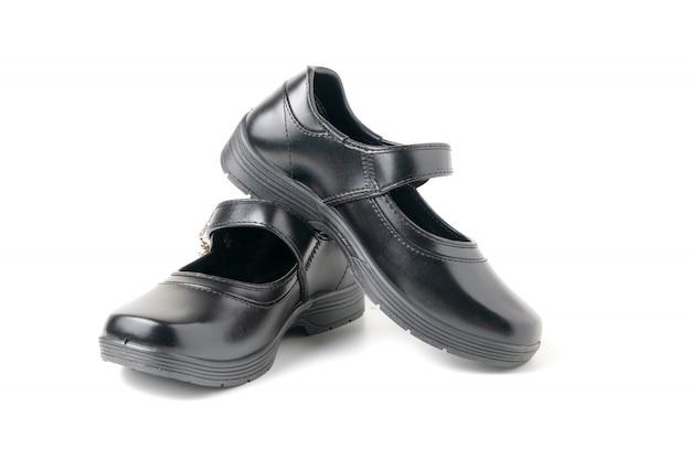 Nowi rzemienni dziewczyna ucznia buty odizolowywający