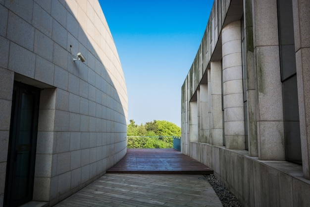 Nowoczesna architektura budowanie niebieskich nieberek