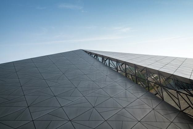 Nowoczesna architektura centrum sztuki w chongqing, chiny