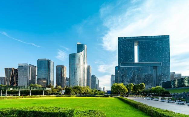 Nowoczesna architektura miejskiej panoramy