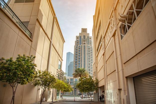 Nowoczesna architektura w dubaju (zjednoczone emiraty arabskie).