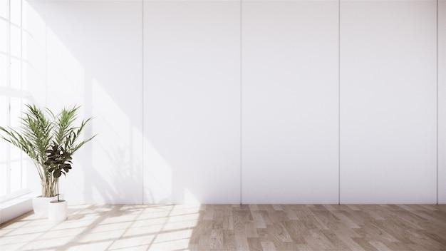 Nowoczesna biała ściana i donica