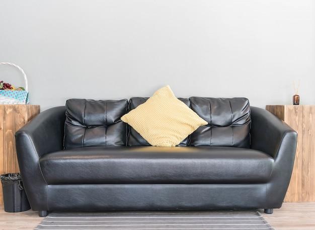 Nowoczesna dekoracja wnętrza sofy