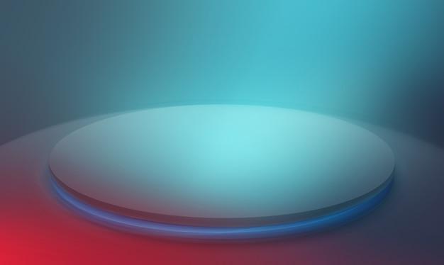 Nowoczesna duża okrągła scena pośrodku. renderowanie 3d