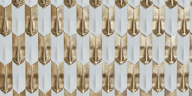 Nowoczesna geometryczna tapeta futurystyczna technologia design złoto i białe tło