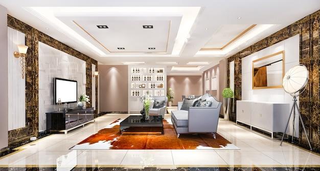 Nowoczesna jadalnia i salon z luksusowym wystrojem