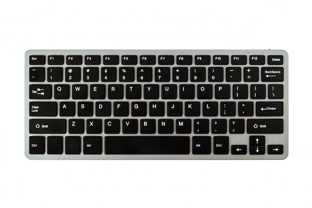 Nowoczesna klawiatura komputerowa na białym tle