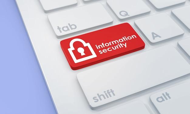 Nowoczesna klawiatura z czerwonym przyciskiem bezpieczeństwa