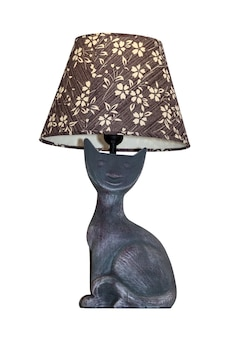 Nowoczesna lampa stołowa na białym tle