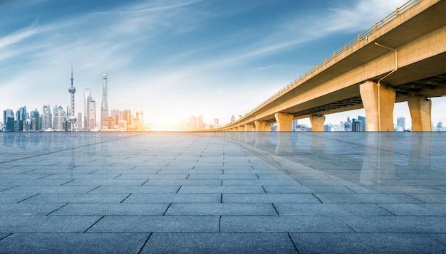 Nowoczesna metropolia skyline, szanghaj, chiny, panorama szanghaju.