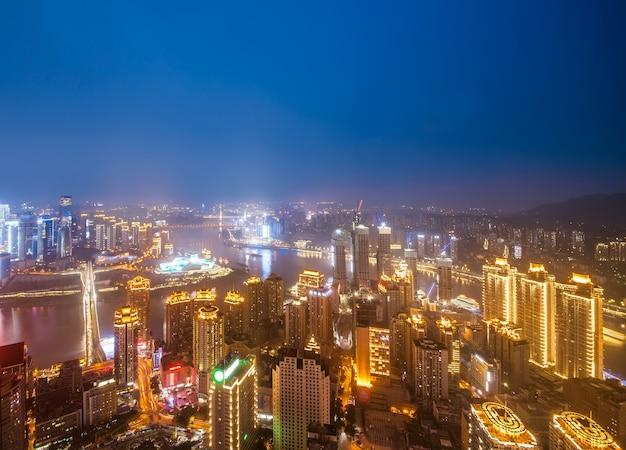 Nowoczesna panorama metropolii, chongqing, chiny,