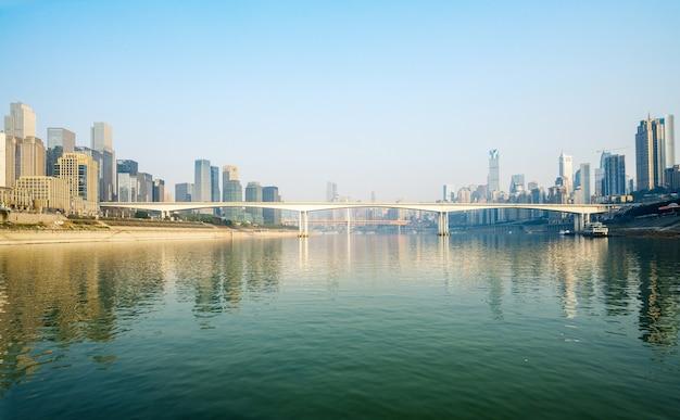 Nowoczesna panorama metropolii, chongqing, chiny