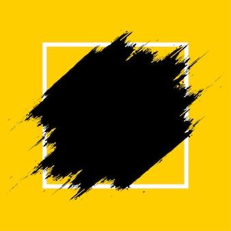 Nowoczesna ramka powitalna z żółtym tłem