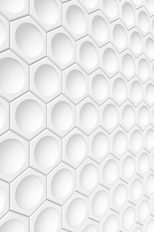 Nowoczesna ściana z płytek. renderowanie 3d.