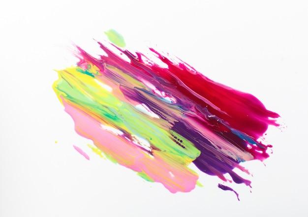 Nowoczesna sztuka abstrakcyjna, mieszanka żywych kolorów, kolorowy jasny obraz, abstrakcjonizm na białym tle