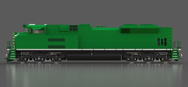 Nowoczesna zielona lokomotywa spalinowa o dużej mocy