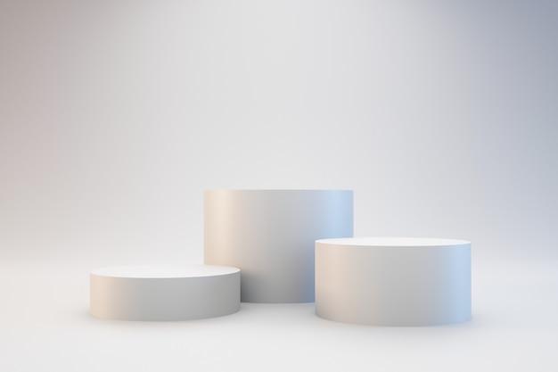 Nowoczesne białe podium