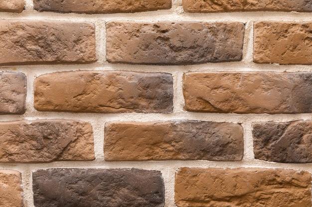 Nowoczesne brązowe ceglane ściany tekstura tło