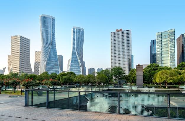 Nowoczesne budynki w hangzhou w chinach