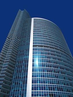 Nowoczesne drapacze chmur międzynarodowego centrum biznesu, moskwa, rosja
