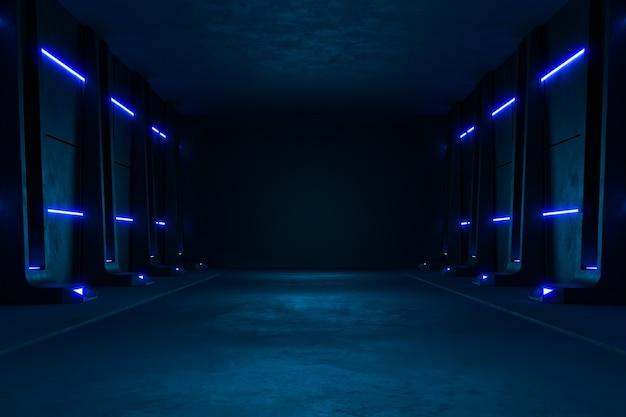 Nowoczesne futurystyczne tło sci fi