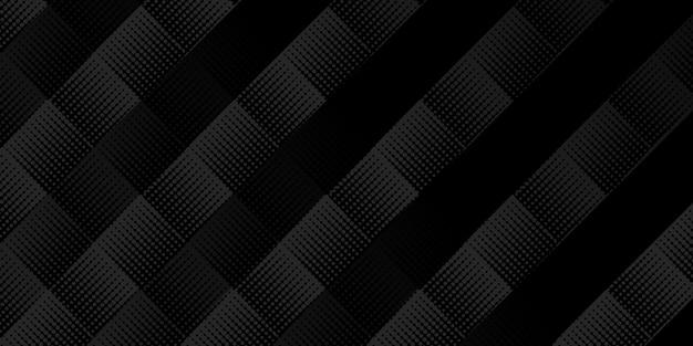 Nowoczesne geometryczne czarne tło z koncepcją biznesową lub korporacyjną. ilustracji wektorowych