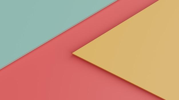 Nowoczesne geometryczne tło. minimalistyczny projekt plakatu, renderowania 3d