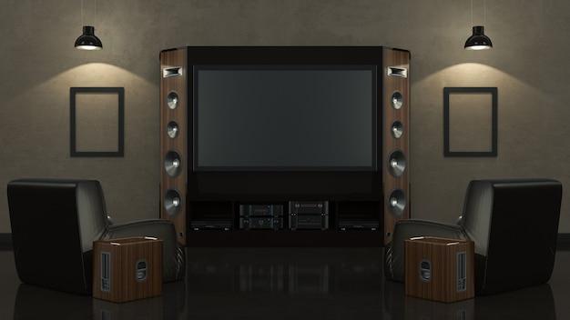 Nowoczesne kino domowe w salonie