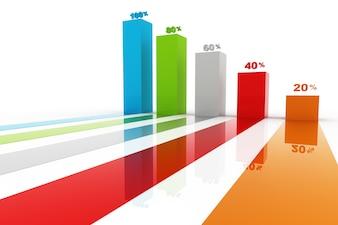 Nowoczesne kroki biznes do sukcesu wykresy i wykresy opcji banner