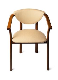 Nowoczesne krzesło na białym tle