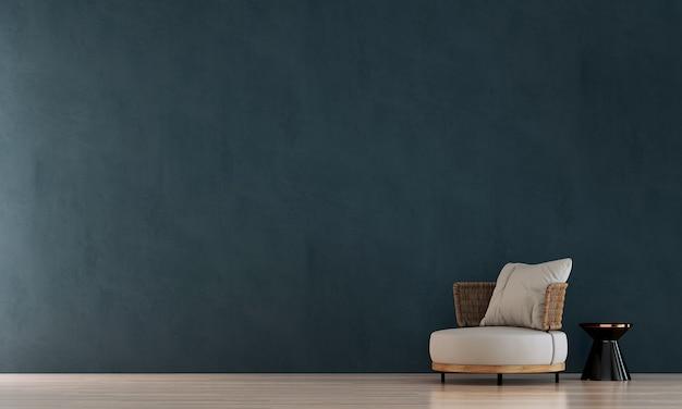 Nowoczesne makiety wystrój i meble oraz salon i zielona ściana tekstura tło wnętrza