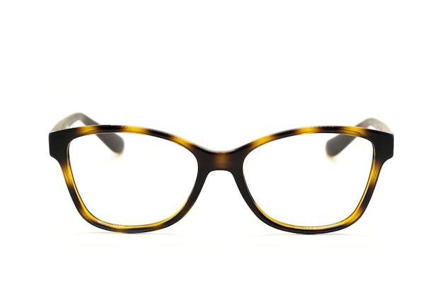 Nowoczesne modne okulary na białym tle, idealne odbicie, okulary