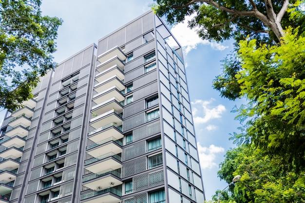 Nowoczesne osiedle mieszkaniowe w singapurze