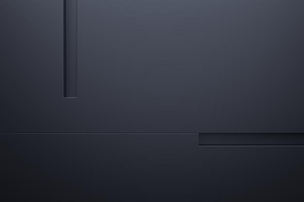 Nowoczesne ściany w tle. renderowanie 3d.