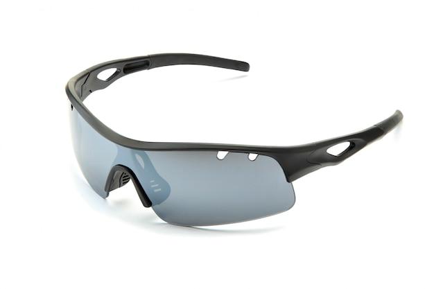 Nowoczesne stylowe czarne okulary przeciwsłoneczne do rowerów sportowych