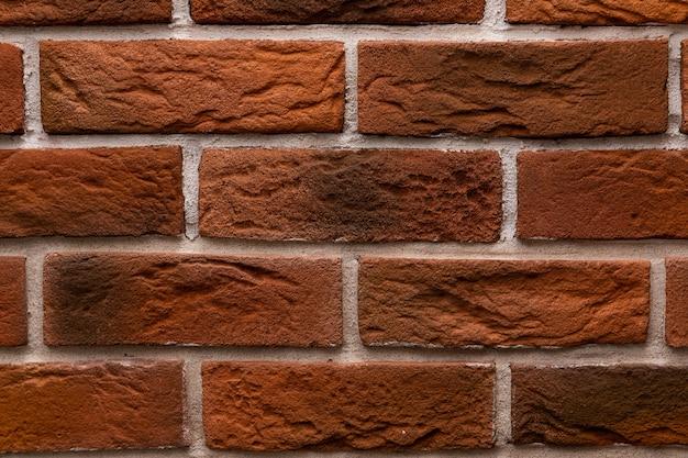 Nowoczesne tekstury ścian z cegły z bliska