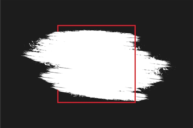Nowoczesne tło czarnego piątku z ramką pociągnięcia pędzlem