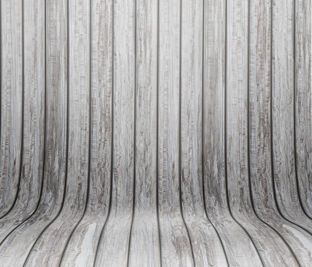 Nowoczesne tło z zakrzywionym drewnianym wnętrzem