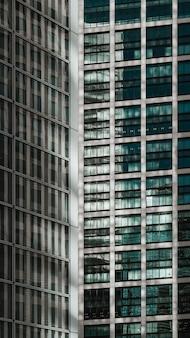 Nowoczesne wieżowce w dzielnicy biznesowej
