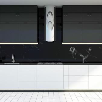 Nowoczesne wnętrza kuchni 3d
