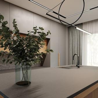 Nowoczesne wnętrze kuchni w stylu loft