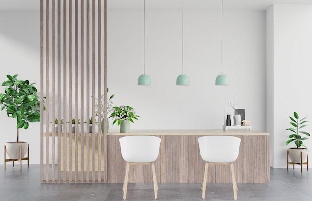 Nowoczesne wnętrze pokoju kuchennego, nowoczesny pokój restauracyjny, nowoczesne wnętrze kawiarni