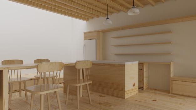Nowoczesne wnętrze salonu. projektowanie wnętrz. renderowanie 3d.