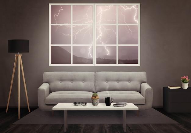 Nowoczesne wnętrze salonu