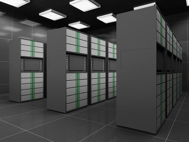 Nowoczesne wnętrze serwerowni