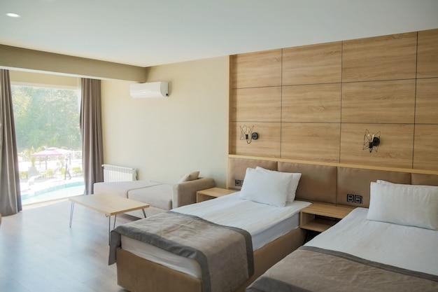 Nowoczesny apartament typu studio z sypialnią i częścią dzienną