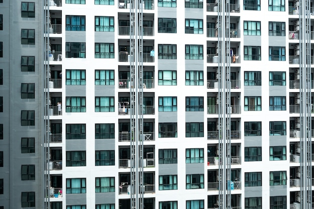 Nowoczesny budynek drapacza chmur w hongkongu