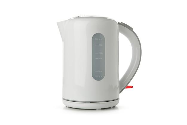 Nowoczesny czajnik elektryczny na białym tle