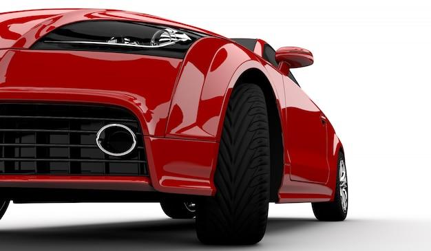 Nowoczesny czerwony samochód
