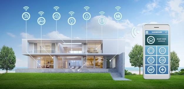 Nowoczesny inteligentny dom.